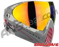 Dye Invision I4 Pro Mask - Airstrike Red w/ Dyetanium Bronze Fire Lens