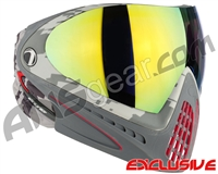 Dye Invision I4 Pro Mask - Airstrike Red w/ Dyetanium Northern Lights Lens