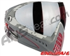 Dye Invision I4 Pro Mask - Airstrike Red w/ Dyetanium Rose Silver Lens