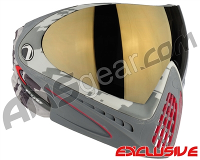 Dye Invision I4 Pro Mask - Airstrike Red w/ Smoke Gold Lens