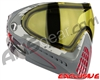 Dye Invision I4 Pro Mask - Airstrike Red w/ Yellow Lens