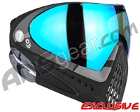 Dye Invision I4 Pro Mask - Barracks Grey w/ Dyetanium Blue Flash Lens