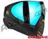 Dye Invision I4 Pro Mask - Black/Gold w/ Dyetanium Blue Flash Lens