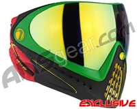 Dye Invision I4 Pro Mask - Rasta w/ Dyetanium Northern Lights Lens