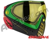 Dye Invision I4 Pro Mask - Rasta w/ Yellow Lens