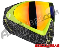 Dye Invision I4 Pro Mask - Skinned Lime w/ Dyetanium Bronze Fire Lens