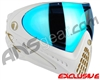 Dye Invision I4 Pro Mask - White/Gold w/ Dyetanium Blue Flash Lens