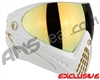 Dye Invision I4 Pro Mask - White/Gold w/ Dyetanium Faded Bronze Sunrise Lens