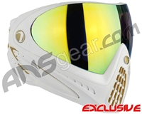 Dye Invision I4 Pro Mask - White/Gold w/ Dyetanium Northern Lights Lens