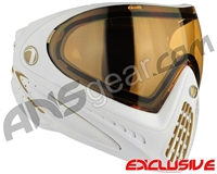 Dye Invision I4 Pro Mask - White/Gold w/ High Definition Lens