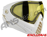 Dye Invision I4 Pro Mask - White/Gold w/ Yellow Lens