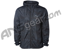 Dye Gas Lamp Zip Up Windbreaker Jacket - Black/Camo