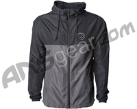 Dye Gas Lamp Zip Up Windbreaker Jacket - Black/Charcoal
