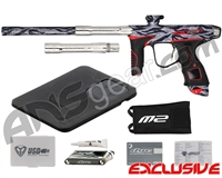 Dye M2 MOSair Paintball Gun - Tiger Stripe Grey/T-800 w/ Red Grips
