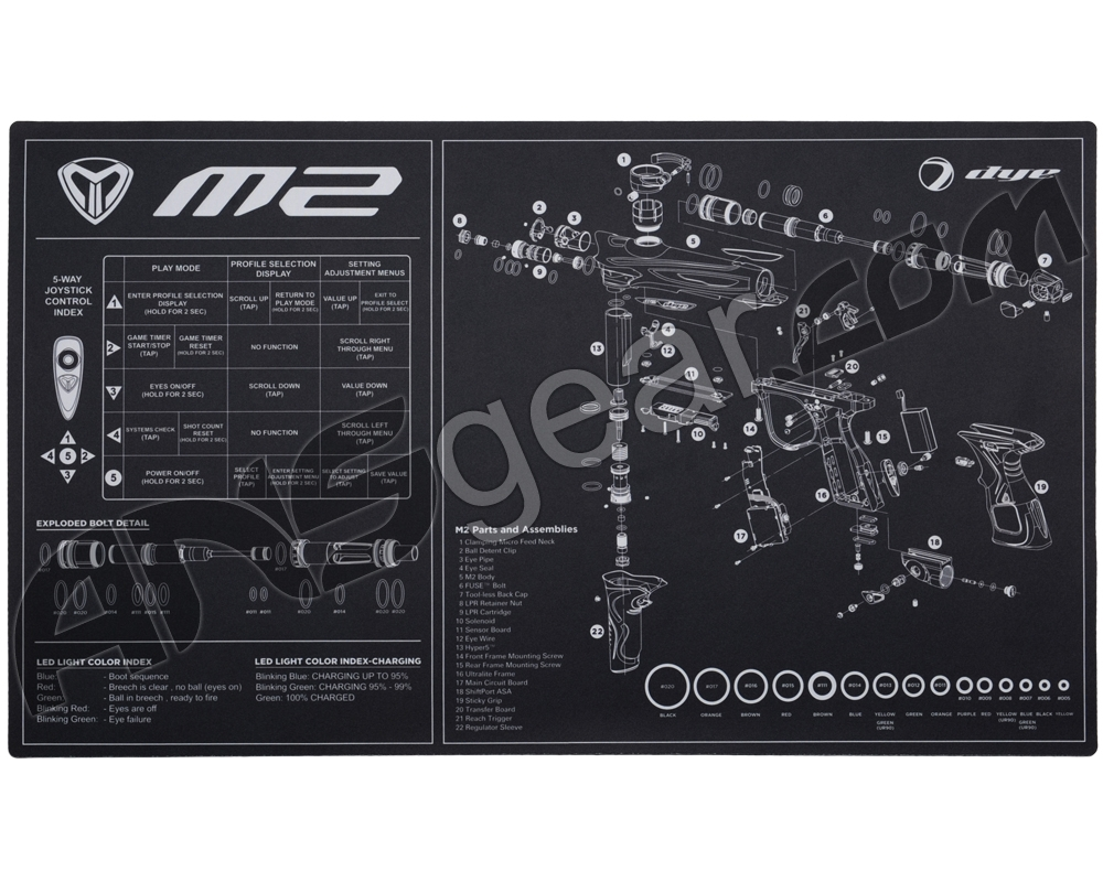 Dye M2 Tech Mat Tippmann Model 98 Schematic