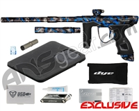 Dye M3s Paintball Gun - SE Acid Wash Grey w/ Blue Splash