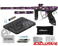Dye M3s Paintball Gun - SE Acid Wash Grey w/ Purple Splash