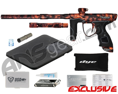 Blemished Dye M3s Paintball Gun - Acid Wash Orange