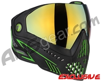 Dye i5 2.0 Paintball Mask - Emerald w/ Dyetanium Faded Bronze Sunrise Lens