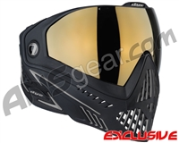 Dye i5 2.0 Paintball Mask - Onyx w/ Smoke Gold Lens
