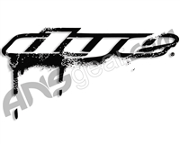 "Dye Paintball Sticker Drip 3"" - Black"