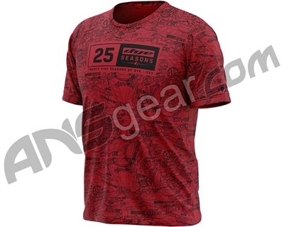 Dye 2019 Dye-Fit 25 Season T-Shirt - Red