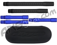 Dye Ultralite Paintball 5pc. Barrel Kit w/ Boom Box - Autococker Threaded - Dust Black/Dust Blue