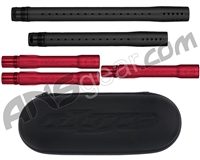 Dye Ultralite Paintball 5pc. Barrel Kit w/ Boom Box - Autococker Threaded - Dust Black/Dust Red