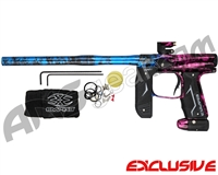 Empire Axe 2.0 Paintball Gun - Polished Acid Wash Blue/Pink Fade