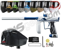 Empire Axe Pro, EVS & Z2 Package Kit - Dust Silver/Polished Blue