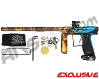 Empire Axe Pro Paintball Gun - Polished Acid Wash Teal/Orange Fade