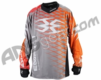 Empire 2015 Contact Zero F5 Paintball Jersey - Grey/Orange