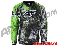 Empire Contact TT Padded Paintball Jersey - Grunge Lime