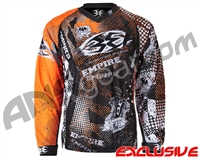 Empire Contact TT Padded Paintball Jersey - Grunge Orange