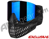 Empire E-Flex Paintball Mask - Black w/ Mirror Blue Lens