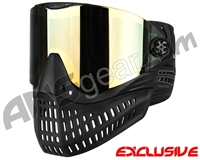 Empire E-Flex Paintball Mask - Black w/ Mirror Gold Lens