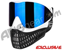 Empire E-Flex Paintball Mask - White w/ Mirror Blue Lens