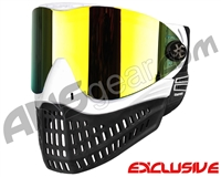Empire E-Flex Paintball Mask - White w/ Mirror Fire Lens