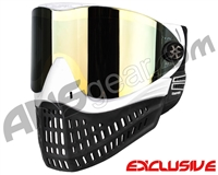 Empire E-Flex Paintball Mask - White w/ Mirror Gold Lens