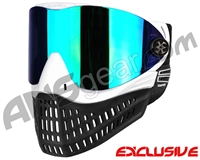 Empire E-Flex Paintball Mask - White w/ Mirror Green Lens