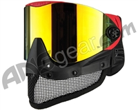 Empire E-Mesh Airsoft Mask - Red w/ Fire Mirror Lens