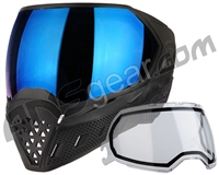 Empire EVS Paintball Mask - Black/Black w/ Blue Mirror Lens