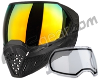 Empire EVS Paintball Mask - Black/Black w/ Fire Lens