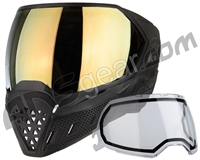 Empire EVS Paintball Mask - Black/Black w/ Gold Mirror Lens