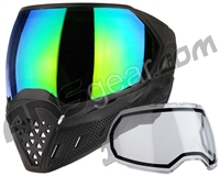 Empire EVS Paintball Mask - Black/Black w/ Green Mirror Lens