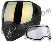 Empire EVS Paintball Mask - Black/Black w/ HD Gold Lens