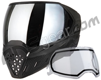 Empire EVS Paintball Mask - Black/Black w/ Silver Mirror Lens