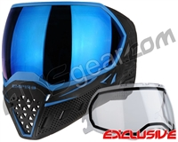 Empire EVS Paintball Mask - Black/Blue w/ Blue Mirror Lens
