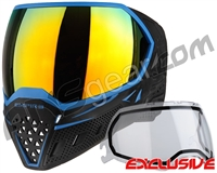 Empire EVS Paintball Mask - Black/Blue w/ Fire Lens