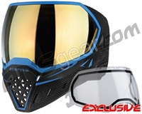 Empire EVS Paintball Mask - Black/Blue w/ Gold Mirror Lens
